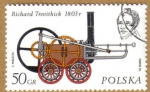 Stamps Europe - Poland -  Trenes