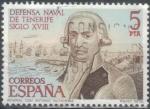 Sellos del Mundo : Europa : España : ESPAÑA 1979 (E2536) Defensa Naval de Tenerife Siglo XVIII - Antonio Gutierrez (1729-1799) 5p