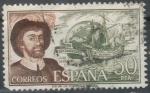 Sellos de Europa - España -  ESPAÑA 1976 (E2310) Personajes espanoles Juan Sebastian Elcano 50p 3 INTERCAMBIO