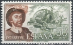 Sellos del Mundo : Europa : España : ESPAÑA 1976 (E2310) Personajes espanoles Juan Sebastian Elcano 50p