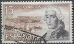 Stamps Spain -  ESPAÑA 1974 (E2182) Personajes espanoles Jorge Juan 15p 2 INTERCAMBIO