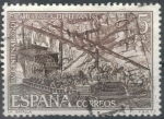 Stamps of the world : Spain :  ESPAÑA 1971 (E2056) IV Centenario de la Batalla de Lepanto - La batalla 5p 4 INTERCAMBIO