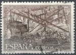 sellos de Europa - España -  ESPAÑA 1971 (E2056) IV Centenario de la Batalla de Lepanto - La batalla 5p 4 INTERCAMBIO