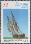 Stamps : Europe : Spain :  ESPANA 1997 (E3476) BARCOS DE EPOCA Bergantin del siglo XIX 32p