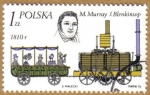 Stamps Poland -  Trenes