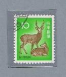 Stamps Japan -  Ciervo