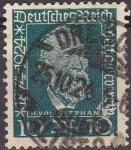 Stamps Germany -  Deutsches Reich 1924 Scott 340 Sello Heinrich Von Stephan 10 usado Michel368 Alemania Allemagne