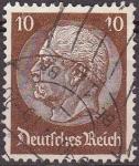 Stamps Germany -  Deutsches Reich 1933 Scott 421 Sello 85 Cumpleaños de Von Hindenburg 10 Usado Michel518 Alemania