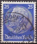 Stamps Germany -  Deutsches Reich 1933 Scott 425 Sello 85 Cumpleaños de Von Hindenburg 25 Usado Michel522 Alemania
