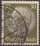 Sellos de Europa - Alemania -  Deutsches Reich 1933 Scott 426 Sello 85 Cumpleaños de Von Hindenburg 30 Usado Michel523 Alemania