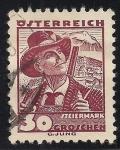 Stamps Germany -  Deutsches Reich 1933 Scott 427 Sello 85 Cumpleaños de Von Hindenburg 40 Usado Michel524 Alemania