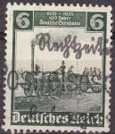 Stamps Germany -  Deutsches Reich 1935 Scott 456 Sello º Centenario Tren Aguila 6 Alemania Allemagne Duitsland Germani