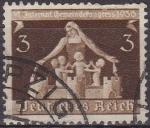 Sellos de Europa - Alemania -  Deutsches Reich 1936 Scott 473 Sello Congreso de Comunidades Alemanas 3 usado Michel617 Alemania