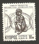 Stamps Asia - Cyprus -  fondos para los refugiados