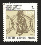Stamps Cyprus -  fondos para los refugiados
