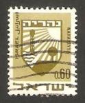 Stamps Israel -  escudo de la ciudad de nahariya