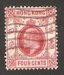 Sellos de Asia - Hong Kong -  eduardo VII