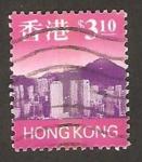 Stamps : Asia : Hong_Kong :  Vista panorámica de Hong Kong