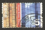 Stamps : Asia : Hong_Kong :  techo de tejas y pared de cristal