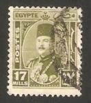 Sellos de Africa - Egipto -  Rey Farouk