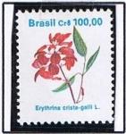 Stamps Brazil -  Erythrina