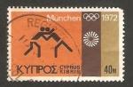 Stamps Asia - Cyprus -  olimpiadas de munich, lucha