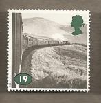 Sellos de Europa - Reino Unido -  Vias férreas