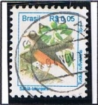 Stamps Brazil -  Turdu Rufivaritris