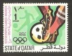 Sellos del Mundo : Asia : Qatar : olimpiadas de munich, fútbol