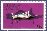 Sellos de America - Granada -  GRANADA Piper Apache 0,50 NUEVO (2)