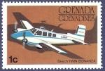 Sellos de America - Granada -  GRANADA Beech Twin Bonanza 1 NUEVO (2)