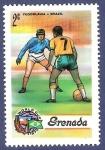 Stamps Grenada -  GRANADA Fútbol 2 NUEVO