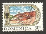 Stamps : America : Dominica :  Elizabeth II, industria minera