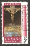 Sellos del Mundo : America : Guyana : semana santa, cristo en la cruz de dali