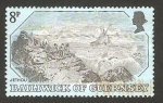 Stamps of the world : United Kingdom :  Guernsey - Grabado antiguo, Jethou