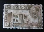 Sellos de Africa - Etiopía -  Edificio del Parlamento Addis-Ababa