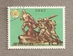 Stamps North Korea -  Escultura del ejército del pueblo