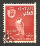 Stamps : Asia : Qatar :  30 - Emir Hamad Bin Ali al Thani, y halcón