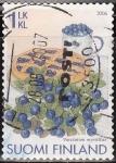 Sellos de Europa - Finlandia -  FINLANDIA 2006 Sello Serie Frutas Arandanos Usado Suomi Finland
