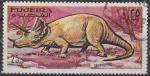 Sellos de Asia - Emiratos Árabes Unidos -  FUJEIRA 1968 Michel 258 Sello Animales Prehistoricos Tricratops Correo Aereo con matasellos de favor