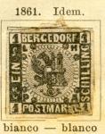 Sellos de Europa - Alemania -  Escudo Ed 1861