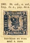 Sellos del Mundo : Europa : Alemania : Escudo Ed 1861