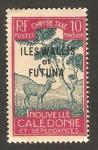 Sellos del Mundo : Oceania : Wallis_y_Futuna : sello tasa, un ciervo