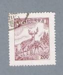 Stamps Asia - South Korea -  Ciervo (repetido)