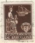 sellos de Europa - España -  ESPANA AUTONOMIAS BARCELONA 1940 (E23)  Virgen de la Merced 5c