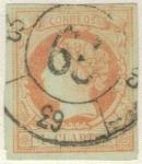 Stamps Europe - Spain -  ESPANA 1860 (E52) Isabel II 4cuartos 4