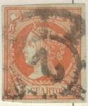 Stamps Europe - Spain -  ESPANA 1860 (E52) Isabel II 4cuartos 3
