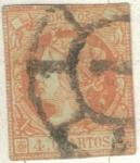 Stamps Europe - Spain -  ESPANA 1860 (E52) Isabel II 4cuartos 2