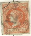 Stamps Europe - Spain -  ESPANA 1860 (E52) Isabel II 4cuartos