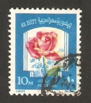 Sellos de Africa - Egipto -  una rosa